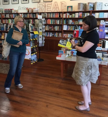 Jackie and Connie in Battenkill Books