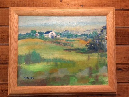 """Barn on the Hill by Marilyn Brooks 11""""x14"""" $150 + shipping"""