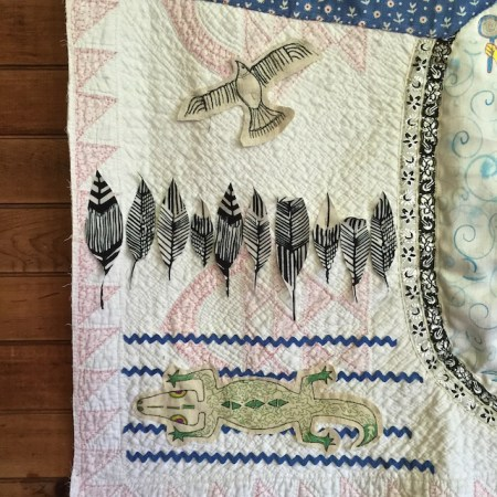 Detail from my Vulture Quilt