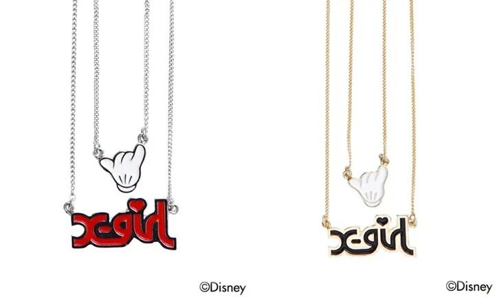 ミッキーのシャカサイン!ディズニー (Disney) × エックスガール (X-girl)とのイヤリング & ネックレスが発売!