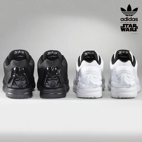 ダースベイダーとストームトルーパーの顔がスニーカーに!スターウォーズ × アディダス オリジナルス ZX FLUX (STAR WARS adidas Originals)