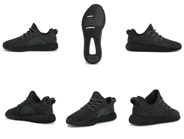 【全世界8/22発売】YEEZY 350 BOOST LOW BLACK (アディダス × カニエ ウェスト イージー ブースト adidas Kanye West) [AQ2659]