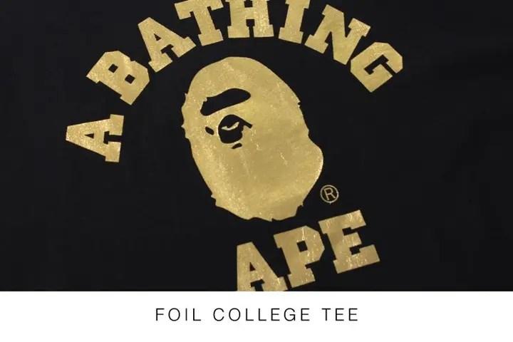 9/12からエイプ (A BATHING APE)のNEWアイテム!「シャークフルジップフーディー」「箔プリントカレッジロゴTEE」「MILO ALL SAFARIクルーネック」「オックスフォードシャツ」が発売!