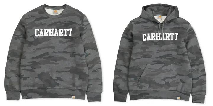 カーハート(Carhartt WIP)からモノクロカモフラージュのスウェット/フーデッドが発売中!