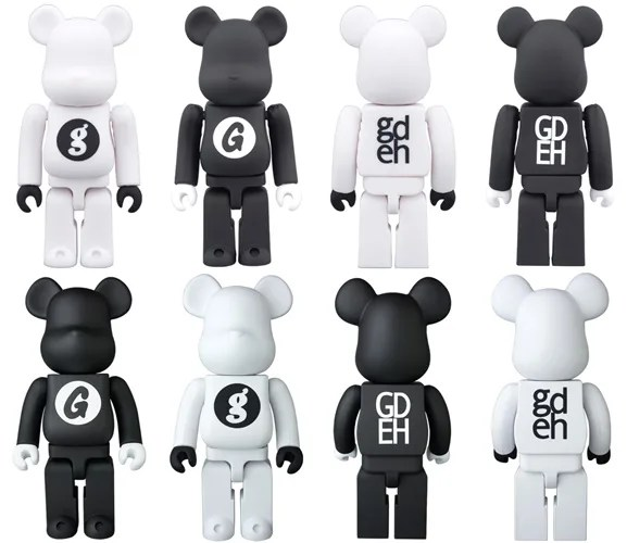 GOODENOUGH 25周年記念!ラバー仕様の100% 400% WHITE BLACK BE@RBRICKが11/28から発売! (グッドイナフ ベアブリック)