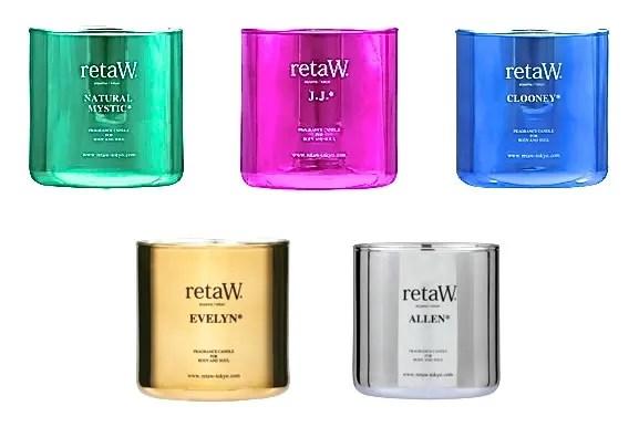 リトゥ (retaW)からクリスマスを演出するにピッタリのメタリックカラー フレグランスキャンドルが発売中!