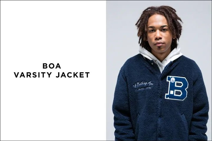 12/5からA BATHING APE 「BAPE NYC」「BOA VARSITY JACKET」「ALAN KNIT」が発売! (エイプ)