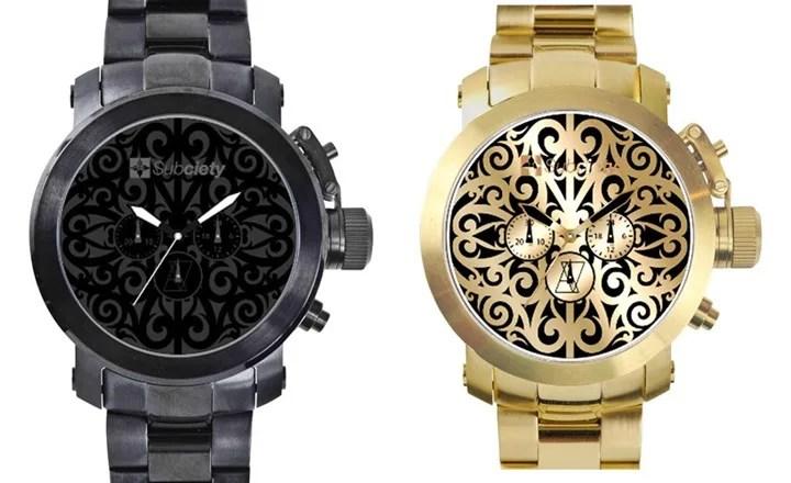 サブサエティからオリジナルトライバルを大型オーバル型盤面に落とし込んだ腕時計が発売! (Subciety TRIBAL WATCH-STAINLESS)