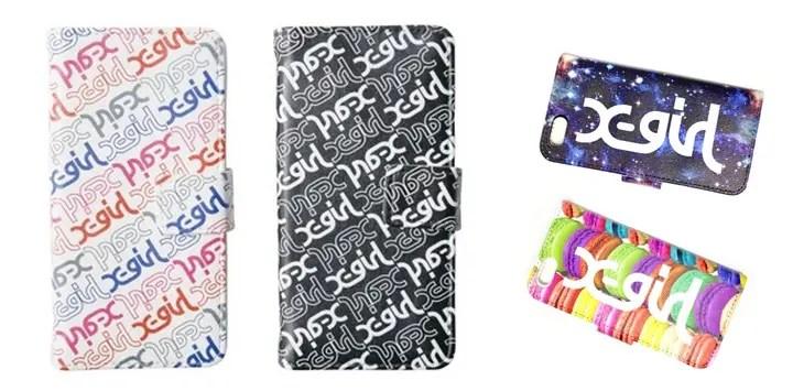 X-girlからiPhone6用のケース「LOGO FLIP CASE」「LOGO PATTERN FLIP CASE」の2モデルが発売! (エックスガール)