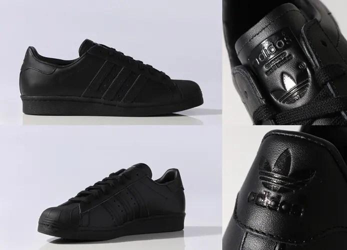 フルグレインレザーを使用したアディダス オリジナルス スーパースター 80s コアブラック (adidas Originals SUPERSTAR 80s Core Black) [S79442]