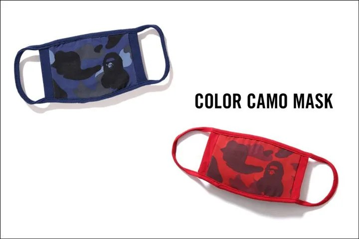 口元にカモフラを!A BATHING APEからオリジナルカモ柄のCOLOR CAMO柄で仕上げたマスクが2/13発売!(エイプ)