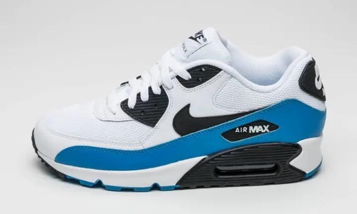 海外3月発売予定!ナイキ エア マックス 90 エッセンシャル ホワイト/フォトブルー (NIKE AIR MAX 90 ESSENTIAL White/Photo Blue) [537384-124]