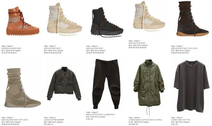 【全アイテム価格】adidas Originals YEEZY SEASON 3 (アディダス カニエ ウェスト イージー シーズン Kanye West)