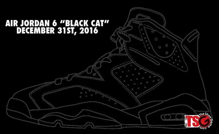 """12/31発売予定!ナイキ エア ジョーダン 6 """"ブラック キャット"""" (NIKE AIR JORDAN VI """"BLACK CAT"""")"""