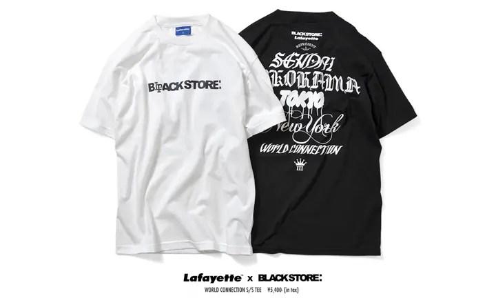 BLACKSTORE × Lafayette WORLD CONNECTION TEEが再販売中! (ブラックストア ラファイエット)