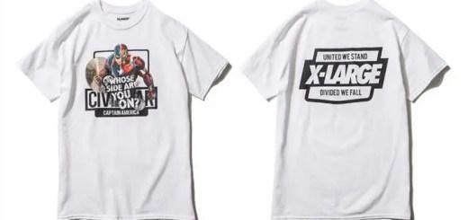X-large × シビル・ウォー/キャプテン・アメリカのコラボTEEが5/20発売! (エクストララージ CIVIL WAR Capitan America)