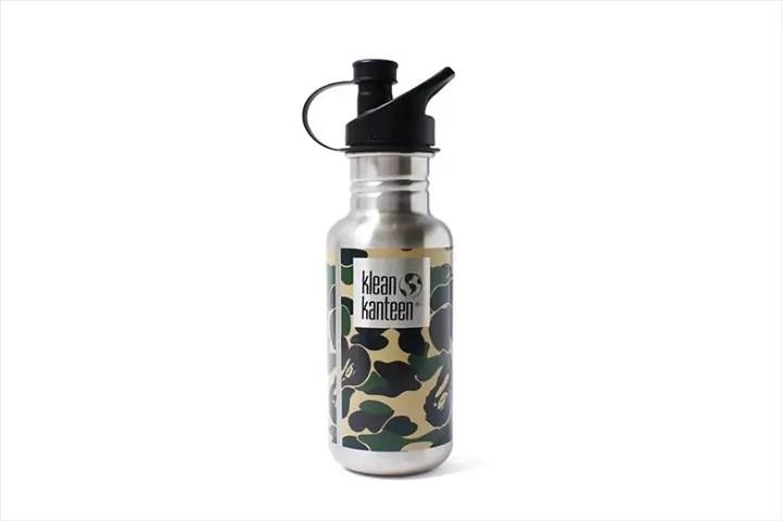 A BATHING APEからABC CAMOをプリントしスポーツキャップを装着したスペシャルバージョンのステンレスボトル「ABC KLEAN KANTEEN」が5/28から発売!(エイプ)