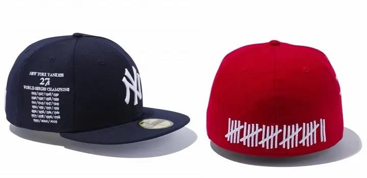 New Eraからニューヨーク・ヤンキースが獲得した27回のワールドチャンピオンをFive Strikesで表現した59FIFTYが発売! (ニューエラ)