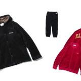 X-largeからベロア素材を使用したフード付きコーチジャケット、トラックジャケット/パンツが10/21発売! (エクストララージ)