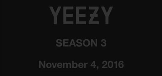 【速報】国内11/4からYEEZY SEASON 3 が展開スタート! (カニエ ウェスト イージー シーズン)