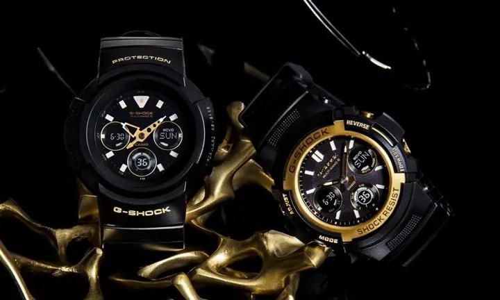 G-SHOCKのブランドカラーであるブラックにアクセントカラーとしてゴールドを組み合わせた「Black & Gold Series」が11/4発売! (ジーショック Gショック)