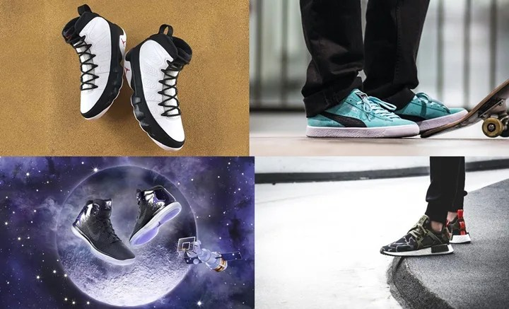 "【まとめ】12/3発売の厳選スニーカー!(NIKE AIR JORDAN 9 OG ""White/Black"")(adidas Originals NMD_XR1 ""DUCK CAMO"")(DIAMOND SUPPLY CO. PUMA CLYDE ""TIFFANY"")(NIKE AIR JORDAN 1 RETRO HIGH ULTRA ""Space Jam"")他"
