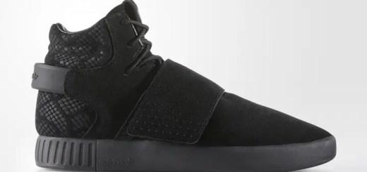"""2017年1月中旬発売!アディダス オリジナルス チュブラー インベーダー ストラップ """"トリプル ブラック"""" (adidas Originals TUBULAR INVADER STRAP """"Triple Black"""") [BB8392]"""