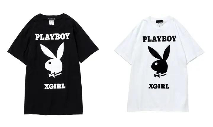 X-girl × PLAYBOY コラボ!ロゴ ビッグTEEが1/13発売! (エックスガール プレイボーイ)