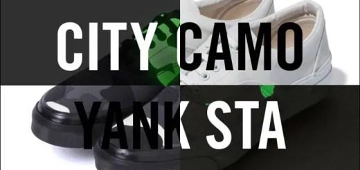 A BATHING APEから蓄光プリントを使用したBAPE オリジナルカモ柄のCITY CAMOをアッパーにあしらったオリジナルスニーカー「YANK STA」が発売! (ア ベイシング エイプ)