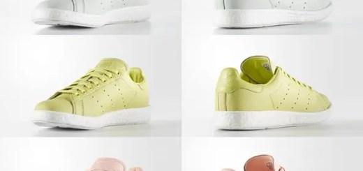 """アディダス オリジナルス スタンスミス ブースト 3カラー (adidas Originals STAN SMITH BOOST """"Haze Coral/Linen Green/White"""") [BY2910][BA7435,6]"""