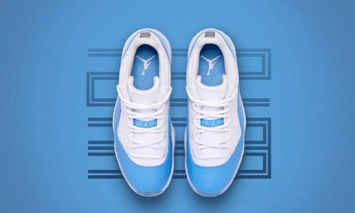 """【オフィシャルイメージ】4/15発売!ナイキ エア ジョーダン 11 ロー レトロ """"ユニバーシティー ブルー"""" (NIKE AIR JORDAN XI LOW RETRO """"University Blue"""") [528895-106]"""