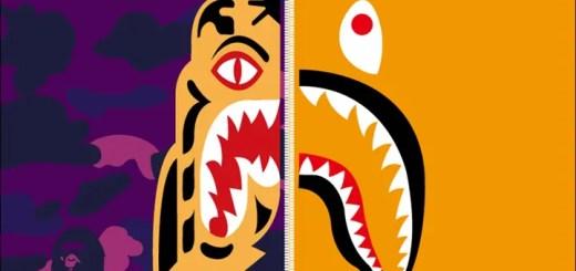 A BATHING APEからタイガーフーディ × シャークモチーフを組み合わせた「TIGER SHARK COLLECTION」が4/22発売! (ア ベイシング エイプ)