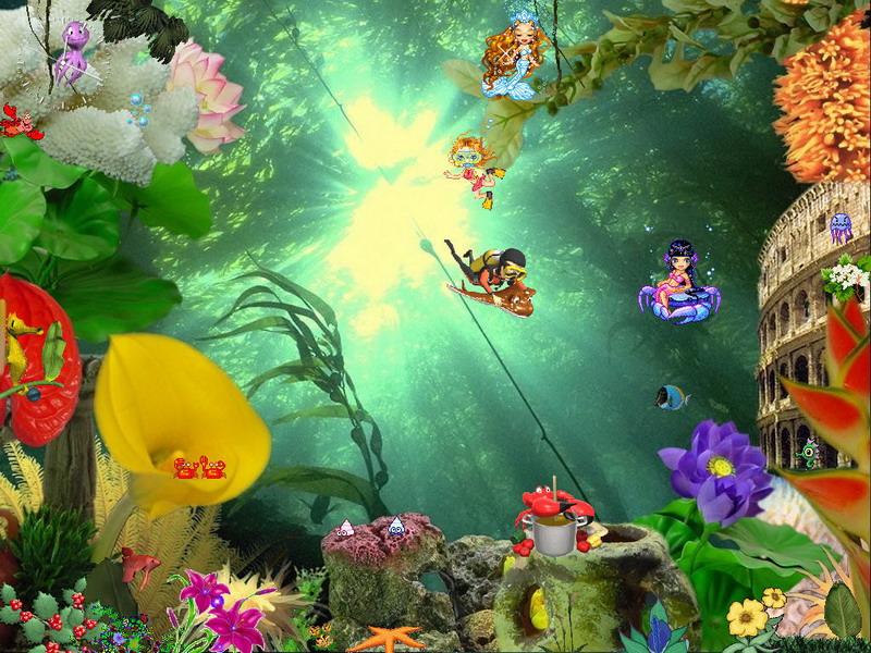 3d Clock Live Wallpaper Animated Aquaworld Free Aquarium Screensaver