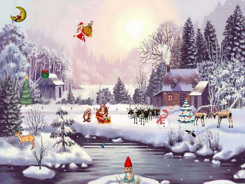 3d Falling Leaves Animated Wallpaper Christmas Adventure 2 Christmas Screensaver