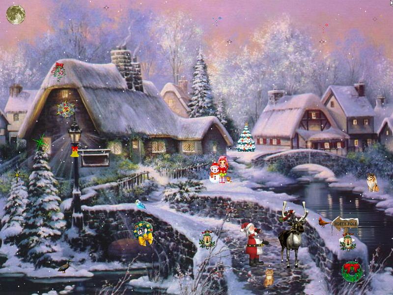 Animated Snow Falling Desktop Wallpaper Christmas Adventure 2 Screensaver Christmas Screensaver