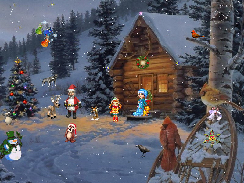 Animated Wallpapers Free Download For Xp Christmas Paradise Christmas Screensaver