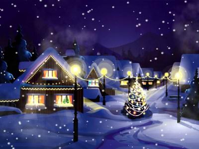 Christmas Snowfall Animated Wallpaper - Christmas Animated Wallpaper - FullScreensavers.com