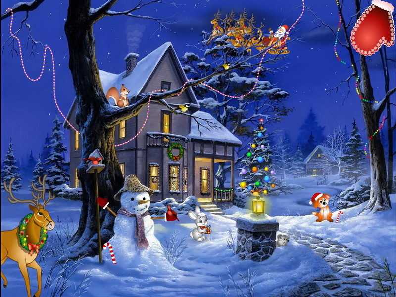 Animated Desktop Wallpaper Free Download For Windows 8 Christmas Fantasy Screensaver Holiday Screensaver