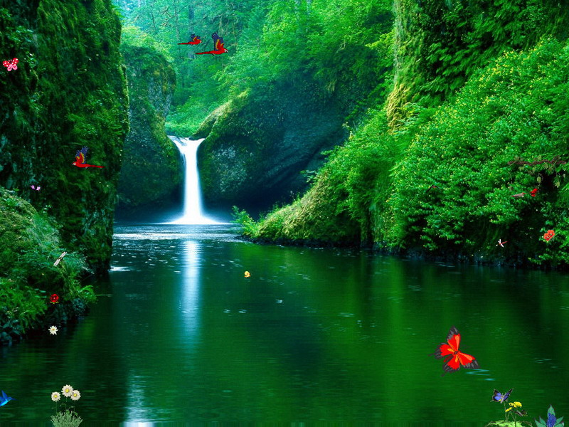 Animated 3d Wallpapers For Windows 7 Free Download Full Version Green Waterfalls Free Waterfalls Screensaver
