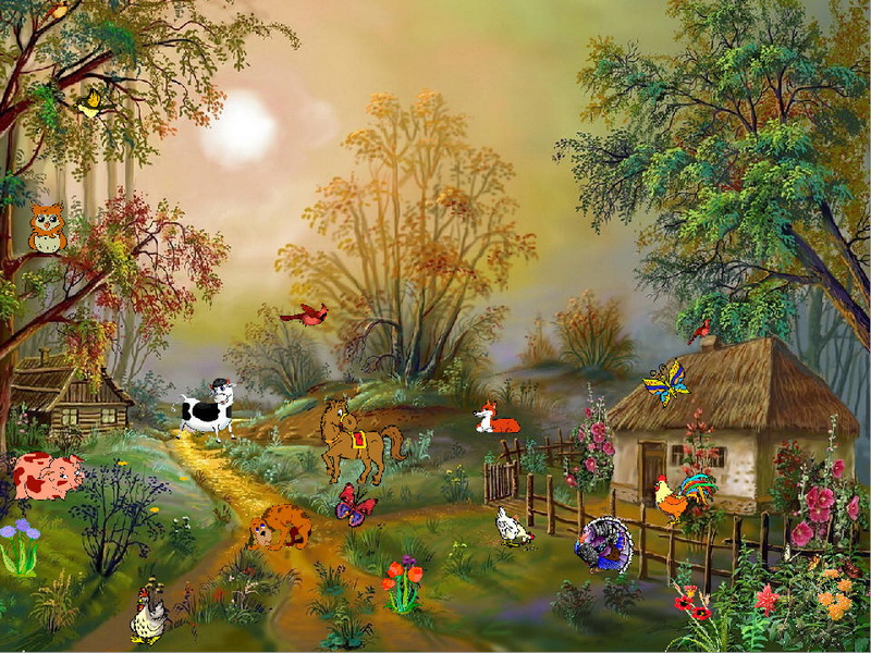 Free Fall Cartoon Wallpaper Village Idyll Free Screensaver Fullscreensavers Com
