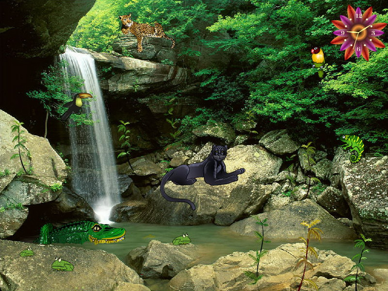 Fall Hunting Wallpaper Jungle Falls Jungle Screensaver Fullscreensavers Com