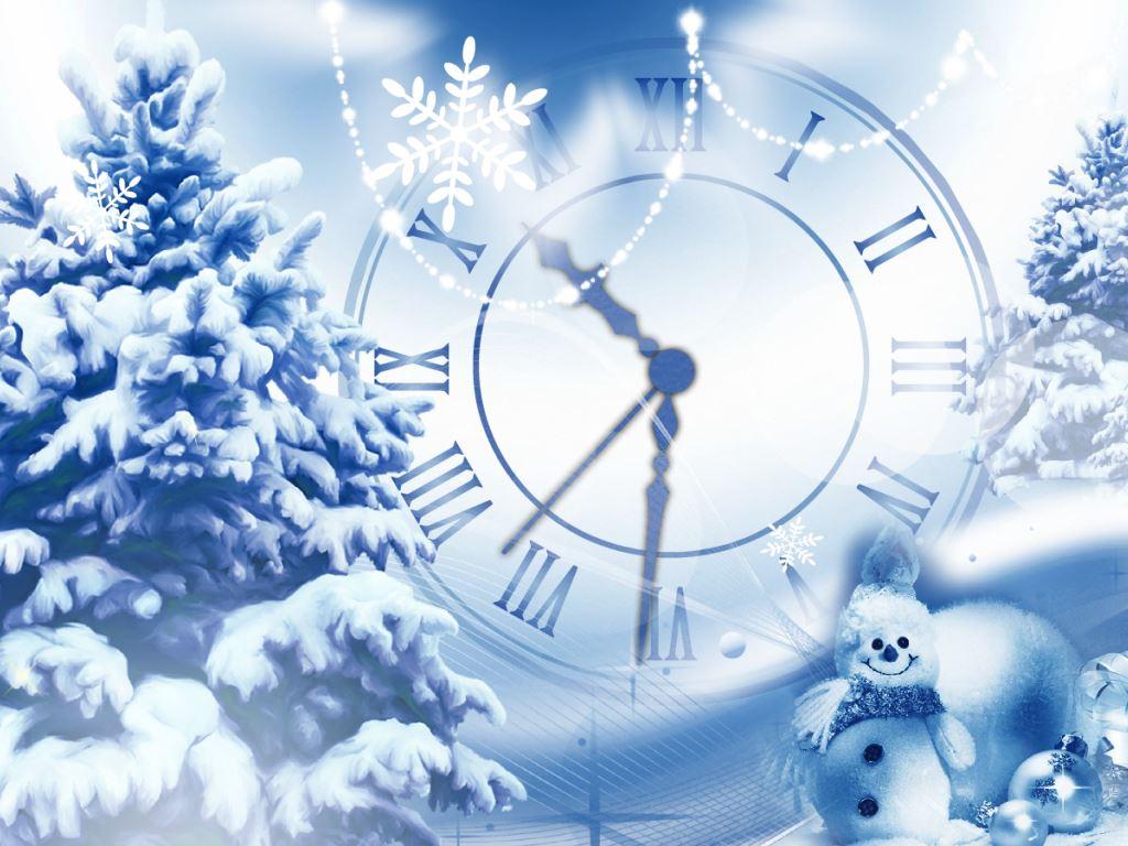 Animated Snow Falling Desktop Wallpaper Snowfall Clock New Year Clock Screensaver