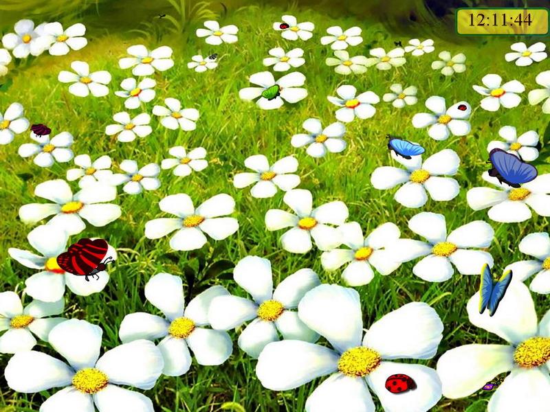 Snow Falling Wallpaper Download Summer Meadows Nature Screensaver Fullscreensavers Com