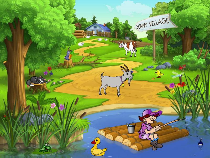 Moving Fall Wallpapers For Windows 10 Sunny Village Village Screensaver Fullscreensavers Com
