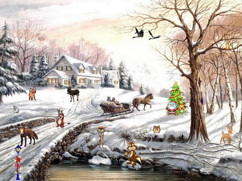 Free Snow Falling Wallpaper Winter Fantasy 2 Winter Screensaver Fullscreensavers Com