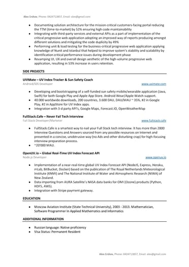 git net developer resume example