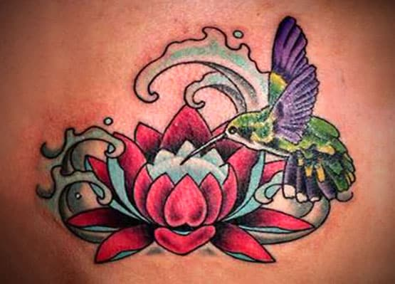 beautyful lotus tattoo