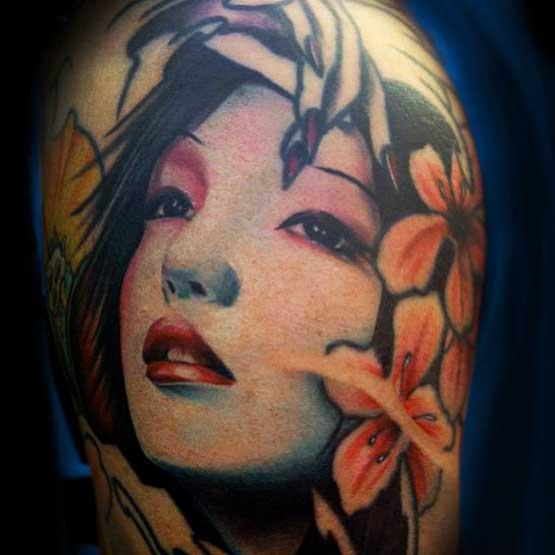 Geisha Girl Tattoo Ideas