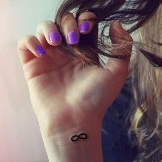 Infinity tattoo symbol designs  for women