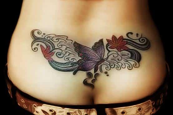 Lower back girls tattoos designs
